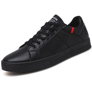 Image 1 - Marka skórzane męskie obuwie jesienne modne trampki obuwie gumowe ciepłe męskie płaskie buty zimowe męskie buty sprzedaż Man Designer