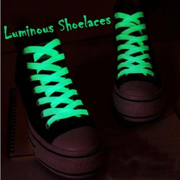 2PC 100cm Luminous Glow In The Dark Shoelace Athletic Sport Sneaker Shoe Laces Strings Shoelaces