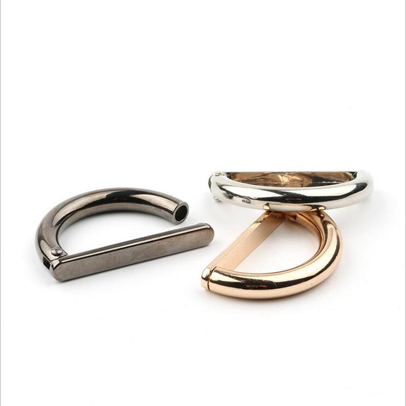 Metal Alloy D Dee Ring adjustable buckles gold gun black silver for bag webbing strap 2 cm 2 8 cm 3 5 cm 20 pcs lot in Buckles Hooks from Home Garden