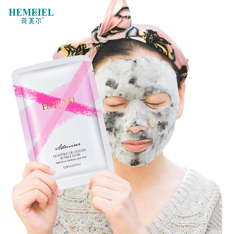 HEMEIEL Bubble Face Mask Bamboo Charcoal Sheet Detox Moisturizing Tender Skin Care Korean Facial Cosmetics masque