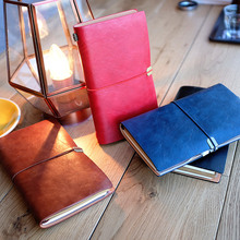 """Brilliant Mind"" Soft Faux Leather Diary Travel Notebook Business Study Freenote Notepad Stationery Gift"