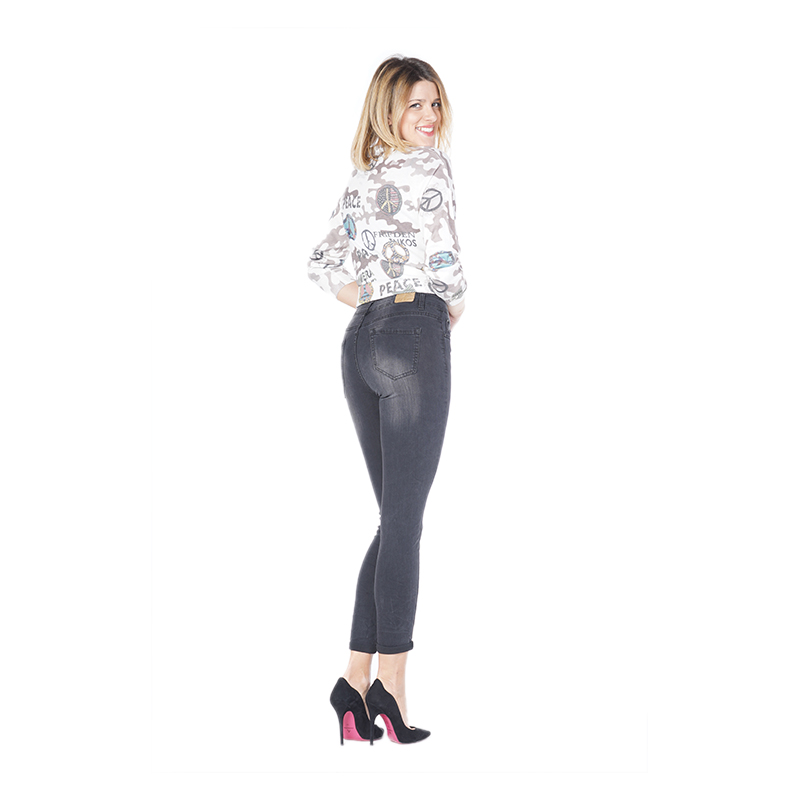 My Will Jeans Women's Tight Jeans 6789 Black Made In China