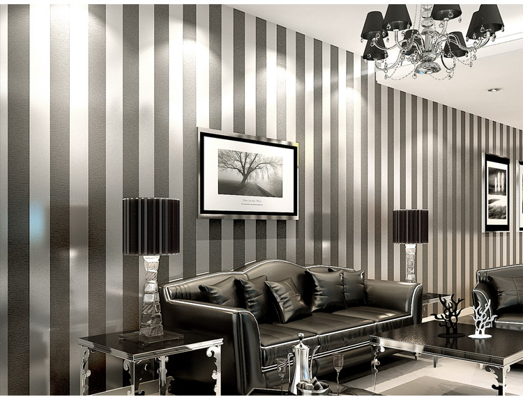 amusing plain white living room | Simple modern non woven wallpaper bedroom living room sofa ...
