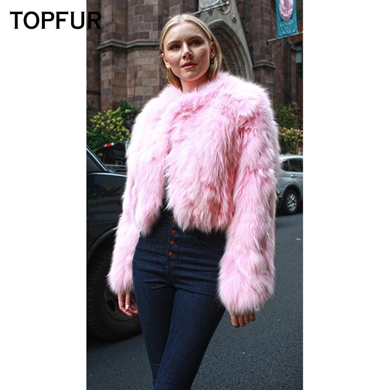 pink Fourrure Coloré Réel Femmes 2018 Entier Femelle Topfur Peau Mince Court dark Manteaux Blue Renard De Vestes Manteau Style Blue D'hiver Naturel yellow red black 54wHnI