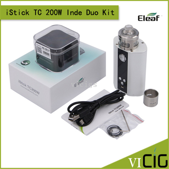 100% original eleaf istick caixa mod com tc tc 200 w firmware atualizável (ti/ni/ss/tcr)/modo vw kit istick tc 200 w ind