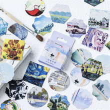 46Pcs/Set Creative Art Gallery Mini Decorative Paper Sticker DIY Ablum Diary Scrapbooking Label Sticker Stationery Free Shipping(China)