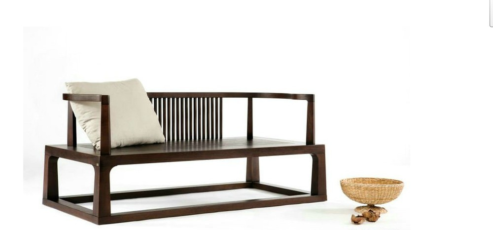 Zen meditation couch couch Series Double tenon wood sofa