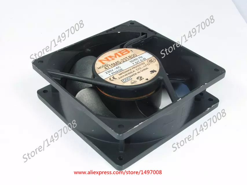 Free Shipping For NMB 4715MS-23T-B20, D00 AC 230V 7.5W 2-pin 120X120X38mm Server Square Cooling fan free shipping for nmb 5915pc 20w b20 s05 ac 200v 35w 2 pin 172x150x38mm server square fan