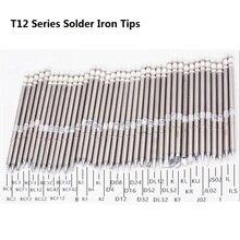 T12 Series SOLDER Iron Tips T12 BC1 T12 BC2 T12 D52 T12 B สำหรับ Hakko Soldering Rework Station FX 951 FX 952 เชื่อมเคล็ดลับ Stings