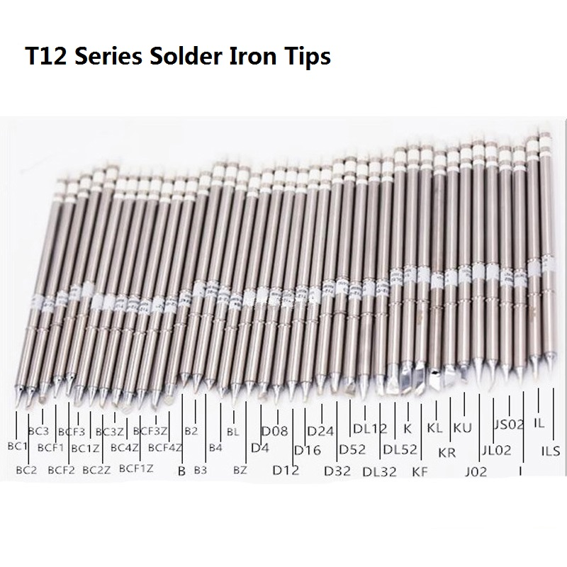T12 Series Solder Iron Tips T12-BC1 T12-BC2 T12-D52 T12-B For Hakko Soldering Rework Station FX-951 FX-952 Welding Tips Stings