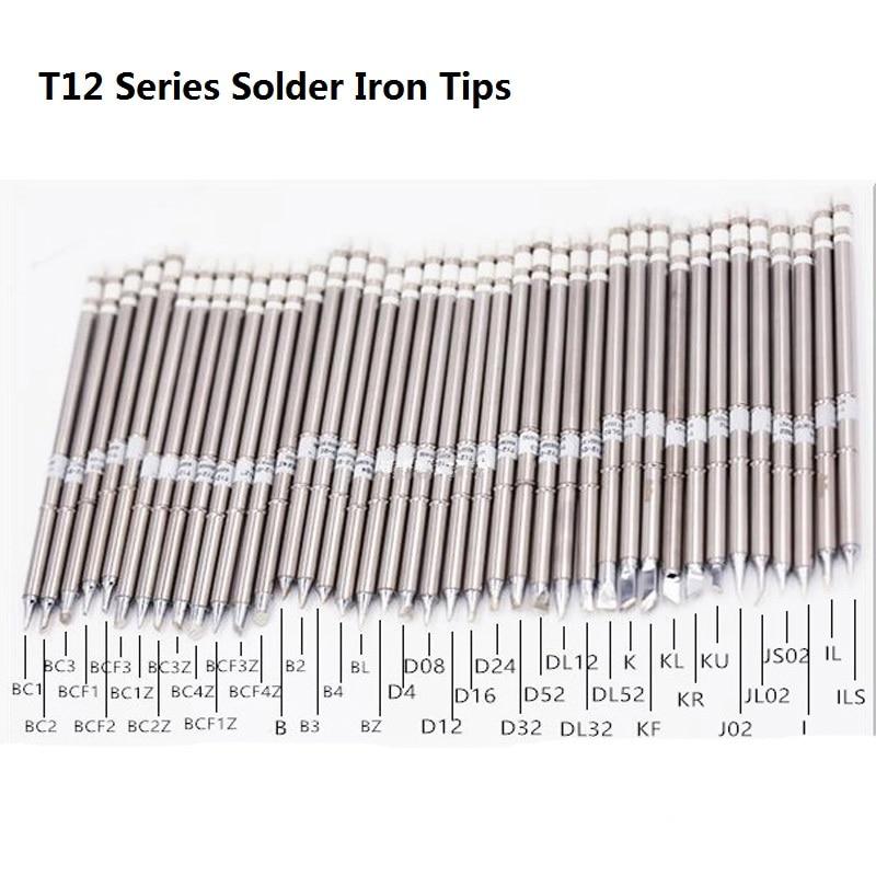 T12 Series Solder Iron Tips T12-BC1 T12-BC2 T12-D52 T12-B For Hakko Soldering Rework Station FX-951 FX-952 Welding Tips Stings