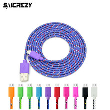 20cm/1M/2M/3M Braided Wire nylon Micro USB Cable Sync Nylon Woven Charger Cords for samsung s2/3 for xiaomi huawei HTC lg sony