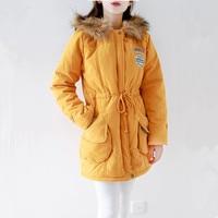 Female Jacket Fleece Feminine Coat 2018 Winter New Casual Hooded Warm Army Chapter S 3XL PLus Size Jacket Women Parka 16 Colors