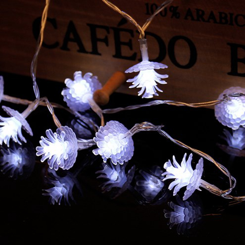 LED Pine Cone Fairy Light String 3AA Battery Operated 1M 2M 3M 5M 10M Waterproof Christmas Holiday Wedding Decoration Garland
