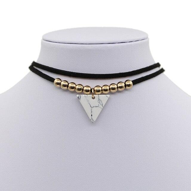 Halskette gold dreieck