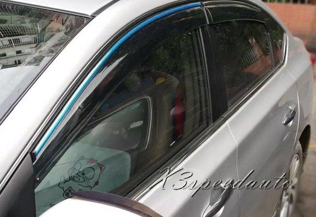 Alta Qualidade 4 PCS Plástico Sylpy Viseira Janela de Ventilação Para Nissan Sentra 2012 2013