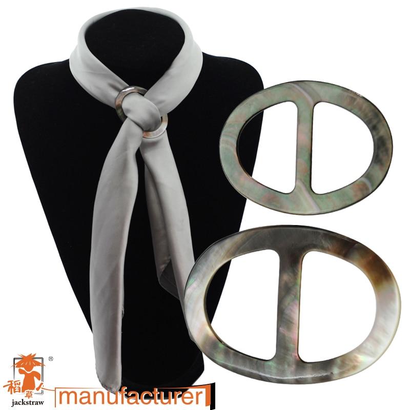 2018 legújabb minőségi ékszerek természetes fekete héj bross sál klip scarver