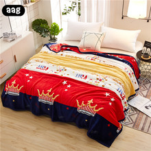 AAG Flannel Fleece Luxury Blanket Super Soft Lightweight Animal Plant Printed Coral Quilted Throw for Bed Sofa Couch