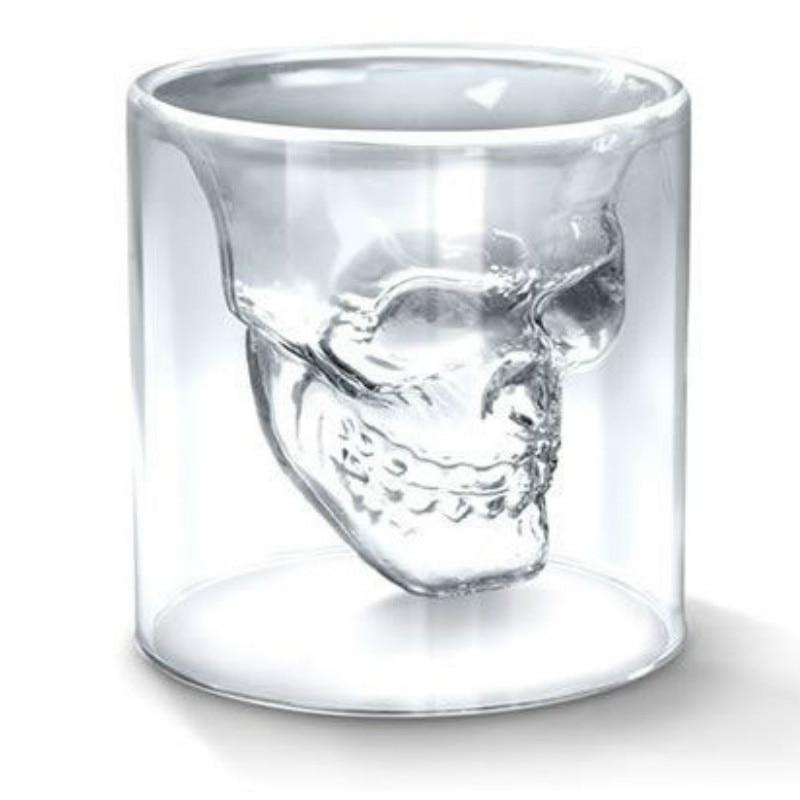1 stk. 2,75 tommer 7 cm lille krystal kraniet hoved skud glas kop - Køkken, spisestue og bar - Foto 1