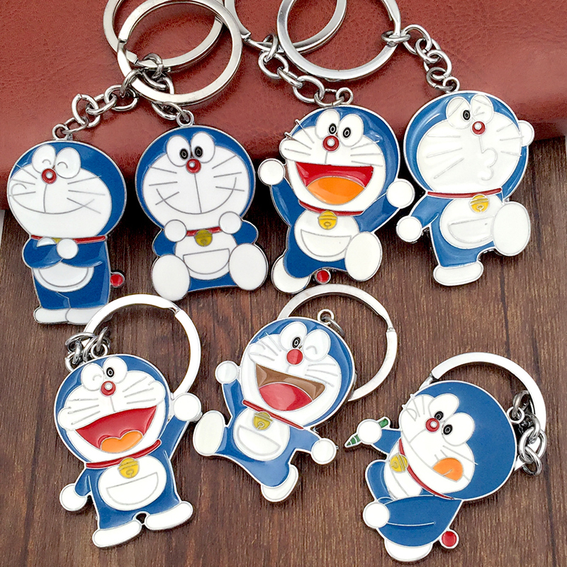 (12 pieces/lot)High Quality Novelty Japan Science Fiction Comedy Doraemon Anime Key Chain Wedding Party Favor and Gift for Guest