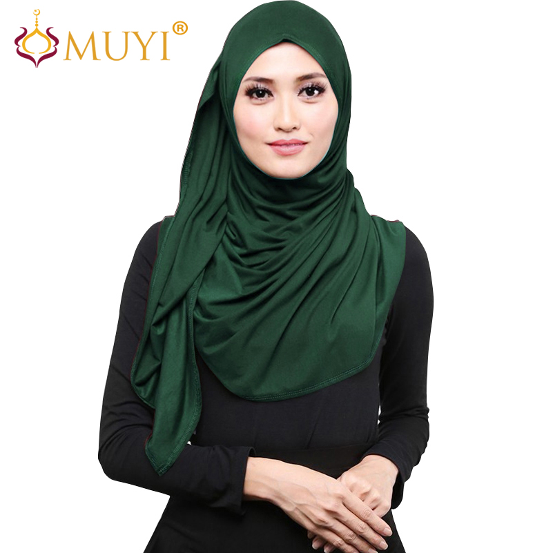 Muslim Hijab Wrap Women Scarves Hijabs Jersey Head Coverings Islamic Turban Veil Stretch Shawls Wraps Cotton Bandana Big Size
