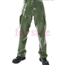 latex army unifrom pants latex jean