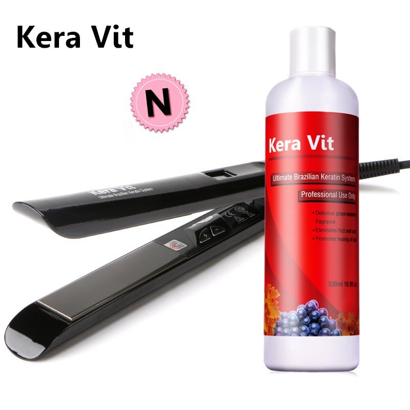 Free Shipping Hot Sale 500ml 5% Formalin Hair Keratin Treatment Straighten and Repair Normal Damaged Hair Get Free Flat Iron cheapest diy set at home mini hair keratin treatment repair straighten hair flat iron comb free shipping