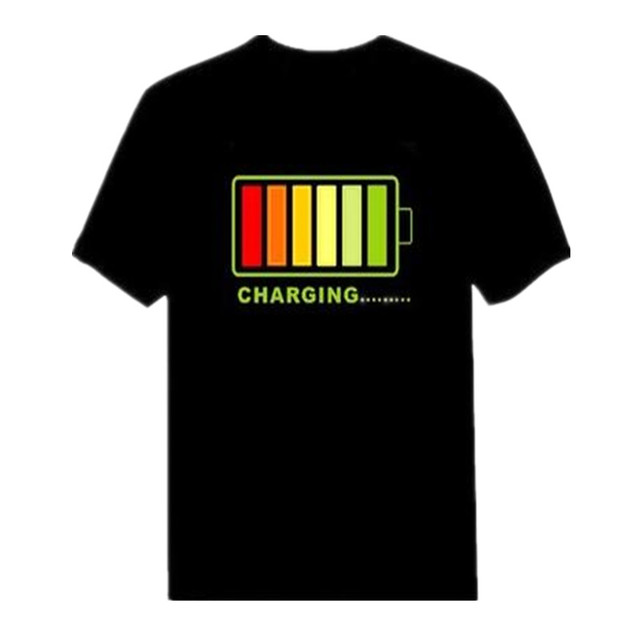 T-Shirt with Flashing Equalizer