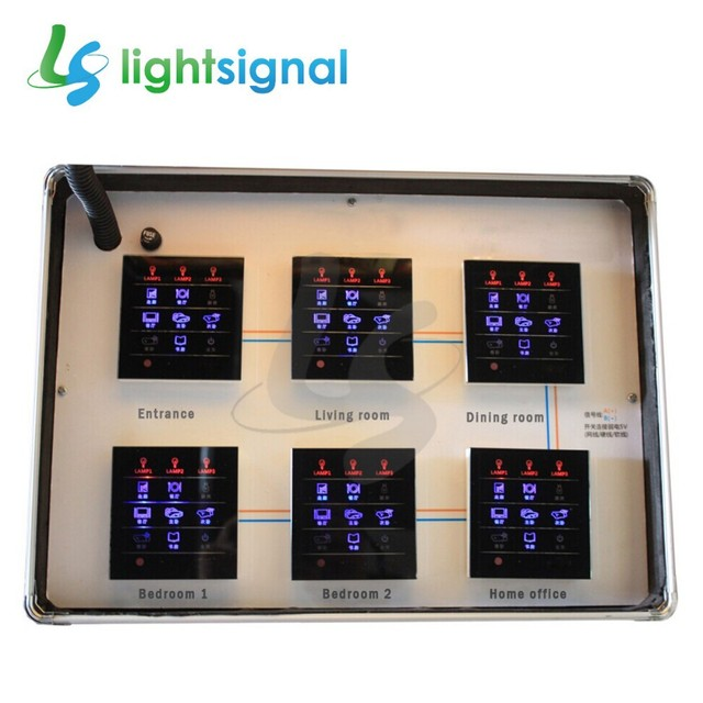 6 Pcs Lot Fresh New Smart Home Switches Touch Screen Wall Switch Mutual Control 24