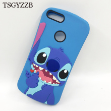 3D Cartoon Lilo Stitch Soft Silicone Case For Huawei Honor 9 Lite Cover Movable Ear Coque Fundas P Smart 2018