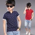 Fashion Cool Guitars Print Boys Cotton T-shirts 2016 New Summer Boy Teenagers Tops Shirts Tees Clothes for 3-12T erkek tshirt