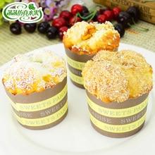 Artificial cake refrigerator stickers food fake sesame seed raisins bread mold wedding accessories