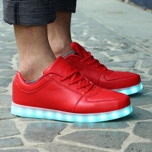 Image 5 - サイズ 35 44 USB 充電 LED ライトアップシューズ靴 LED スリッパメンズ & 女性の発光グローイング靴 krasovki とバックライト靴