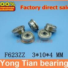 SF623 F623 SF623ZZ F623ZZ F623-2Z F623Z zz z 2z фланцевые Глубокие шаровые подшипники 3x10x4 мм Высокое качество 3*10*4 мм