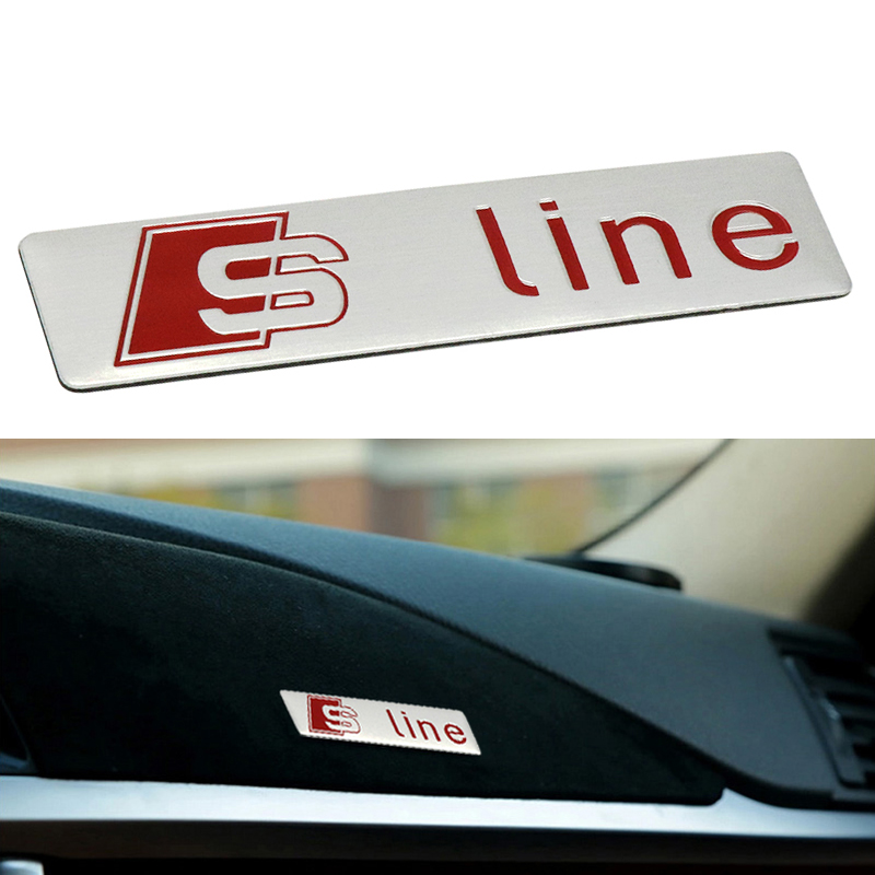 3D S Line Aluminum Car Door/window Emblem Decoration Stickers Accessories Styling For Audi A1 A3 A4 B6 B8 B5 B7 A5 C5 C6 A7 TT 1 pair door protector anti collision canada flag emblem 3d car stickers creative car styling automobile accessories