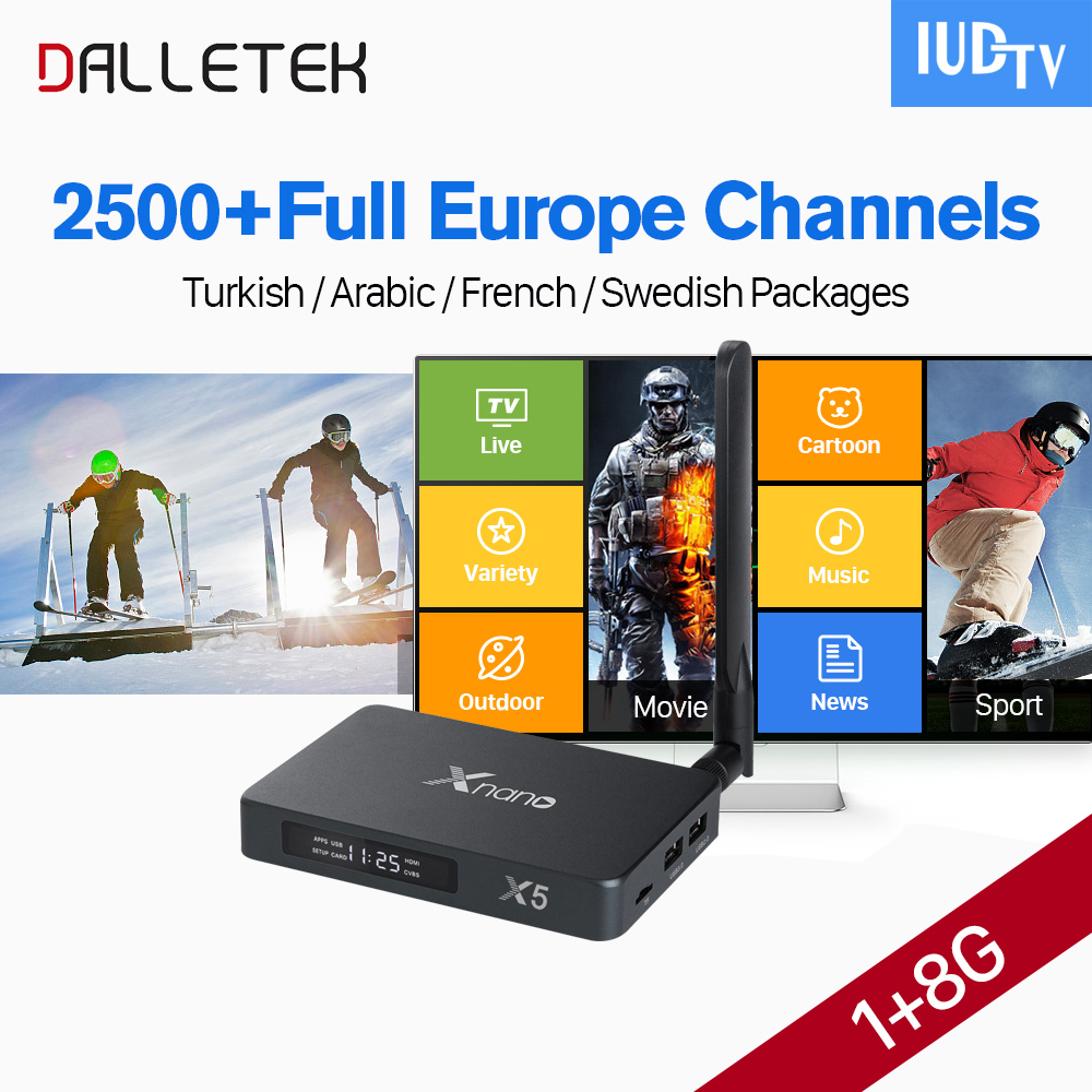 X5 Android Box Arabic French IPTV Italia Spain IUDTV Code IPTV Subscription Europe France USA Turkey France IPTV Set Top Box x92 android iptv box s912 set top box 700 live arabic iptv europe french iptv subscription 1 year iptv account code