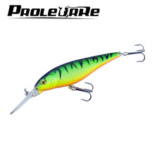 1Pcs Minnow 11cm 10.5g  fishing lure crankbait iscas artificiais Fishing wobblers 6# hook 3D eyes leurre Fishing Tackle YR-197