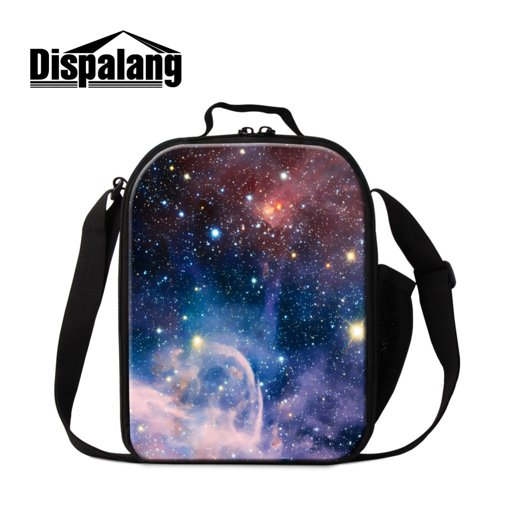 Dispalang Galaxy Printing Kids Lunch Bags Small Ladies Lunch Box For Working Thermal Portable LunchBag School Food Container