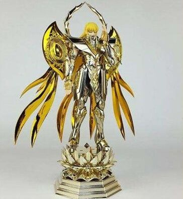 in stock saire metal club virgo shaka soul of gold sog action figure metal armor EX