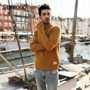 Image 2 - SIMWOOD ใหม่ยี่ห้อเสื้อกันหนาวผู้ชาย 2019 ฤดูใบไม้ร่วงฤดูหนาวแฟชั่นถักเสื้อกันหนาวเสื้อกันหนาว CASHMERE คุณภาพสูง 180369