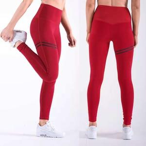 Image 3 - Leggings femininos poliéster, leggings slim para treino, cintura v, calças tipo lápis