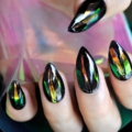 Red Shade Nail Art Decoration Foil High Light Rainbow DIY Nail Design Roll Sticker AB Color Foil in Clear Jar 680