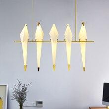 Постсовременный креативный 110 V 220 V скандинавский одиночный Журавлик оригами птица современный подвесной потолочный светильник Гостиная Прихожая светодиодный настенный светильник EMS