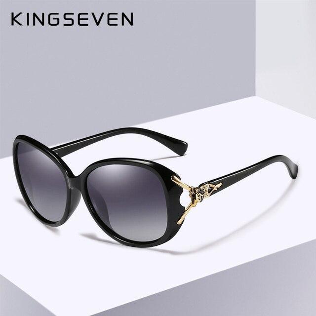 37fdf0b91f KINGSEVEN 2019 nouveau grand cadre lunettes de soleil femmes élégantes  lunettes de soleil mode femmes nuances