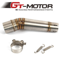 GT Motor Free Shipping Motorcycle Exhaust middle pipe for HONDA NC700 NC750 2012 2013 2014 2015 2017 link pipe Slip On