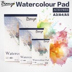 Bianyo a4 a5 esboço livro artigos de papelaria aguarela papel esboço bloco de notas para pintura desenho diário diário caderno criativo presente