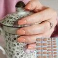 24 clavo caliente azúcar refinada encantadora colores uñas postizas párrafo media superficie brillante luz orange p58