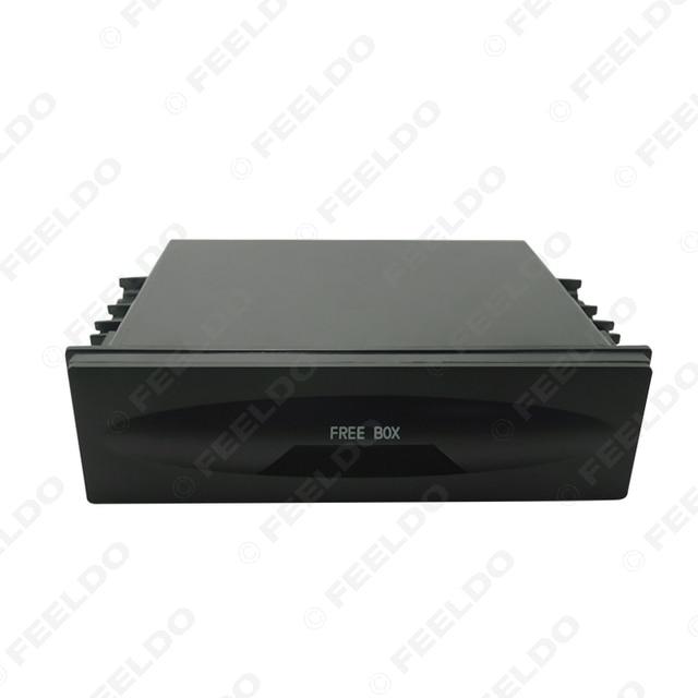 FEELDO 1DIN Size Car Stereo Dashboard Installation Mounting Refitting Trim Fascia Spacer Pocket Cassette Drawer Storage Box