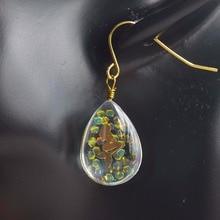 a Pair Mermaid Blingbling Water Drop Double Sided Copper Earrings For Women Vintage Fashion Jewelry Korean Bohemian Cute Love pair of vintage faux gem water drop jewelry earrings for women