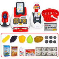 Kids House Miniature Simulated Model Role Children Counter Cash Register Toy Pretend Play Supermarket Funny Cashier Gift